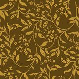 Vector Distressed Brown Fern Pattern