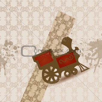 old train vector background