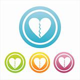 set of 4 hearts signs