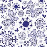 Seamless white-violet christmas wallpaper