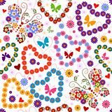 White seamless floral valentine pattern 