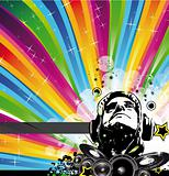 Abstract Colorful Background for Musical Event Flyer