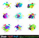 Splash Grunge Design Elements Collection
