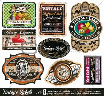 Vintage Labels Collection -Set 8