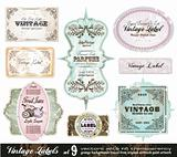 Vintage Labels Collection -Set 9