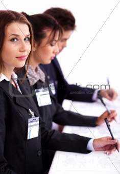 Business conference attendants