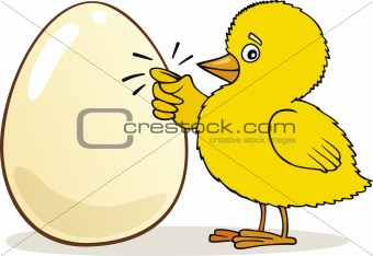 Chick knocking on Egg