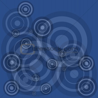 Blue circles on blue background