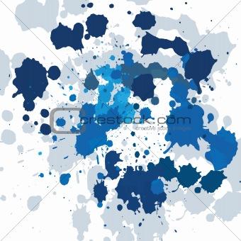 Blue ink spots