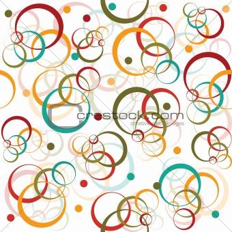 Circles and dots retro pattern