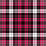 Seamless black-red-white checkered pattern
