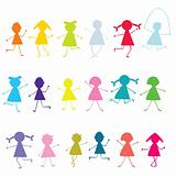 Colored children pattern