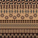 Ethnic pattern with african symbols&ornaments