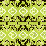 Ethnic pattern with traditional decorative motives