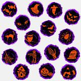 Grungy halloween icons