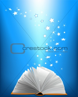 An opened magic book