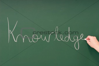Knowledge written on a blackboard