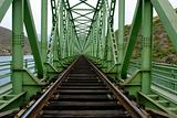 rail train on a bridge