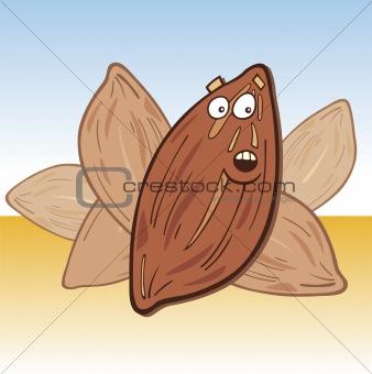Cartoon almond