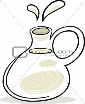 Pot with milk