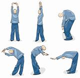 Man Practice Tai Chi