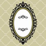 Decorative oval vintage frame