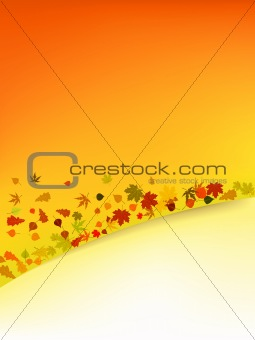Autumn vector background with leafs.