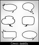 Set different comics bubbles