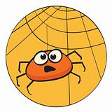 Cute litte cartoon spider