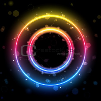 Alphabet Rainbow Lights in Circle Button