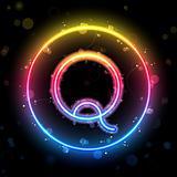 Alphabet Rainbow Lights in Circle Button