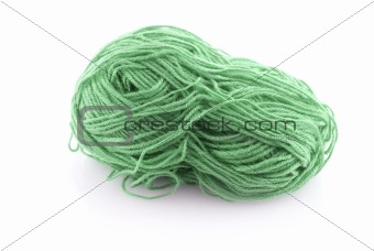 Green ball knitting wool
