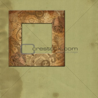 Art framework  with wooden texture
