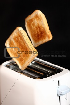 Toasted bread and toaster