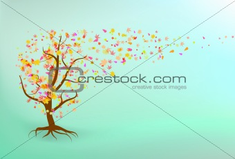 Autumn tree background.