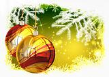 Traditional Christmas background, illustration of Christmas Card
