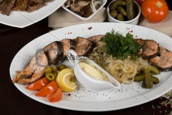 Fish at  restaurant