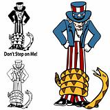 Tea Party Rattlesnake Uncle Sam