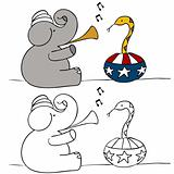 Elephant Snake Charmer