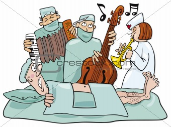 Crazy surgeons operation band