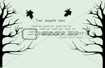 Autumn black treen
