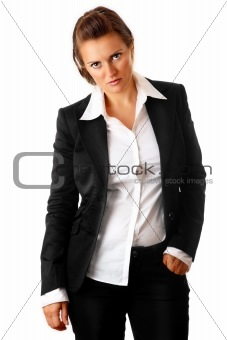tired modern business woman