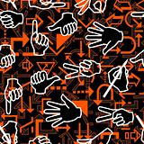 Seamless hand pattern