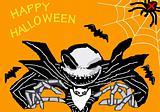 Illustration of terrible monster in Halloween
