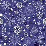Repeating violet christmas pattern