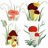 Set of mushroom