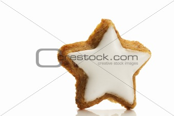 one star shaped cinnamon biscuit