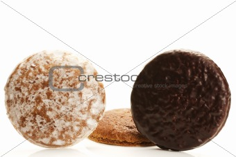 three different traditional german lebkuchen