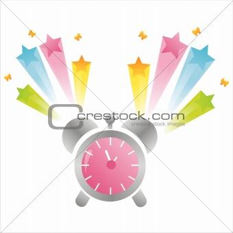 clock with splash
