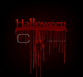 Bloody halloween. Vector art illustration